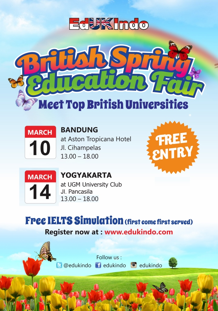British Spring Education Fair 2015 Bandung flyer side A