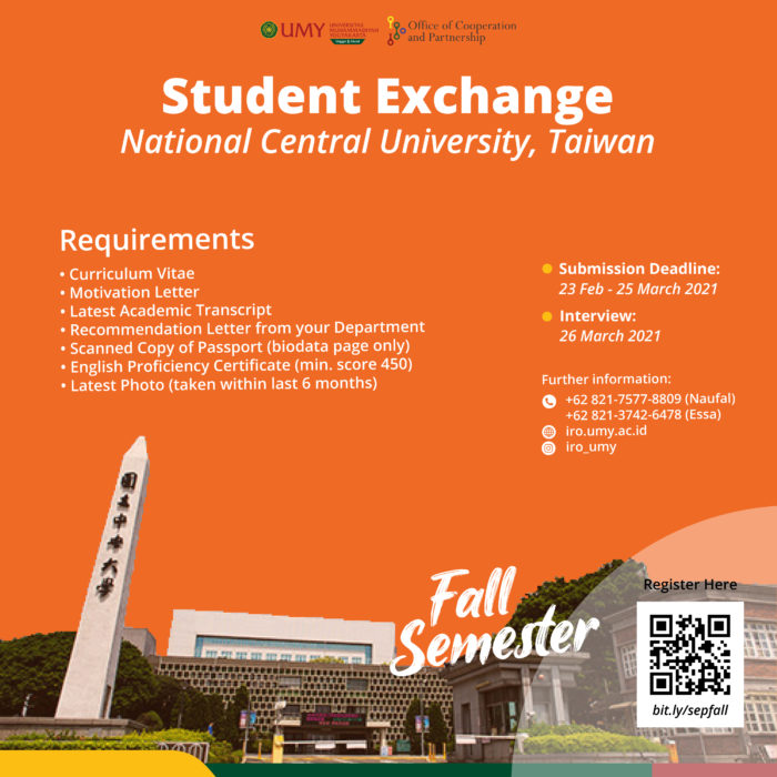 Exchange Program to National Central University, Taiwan